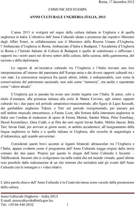Comunicato stampa  17 12 2012-1