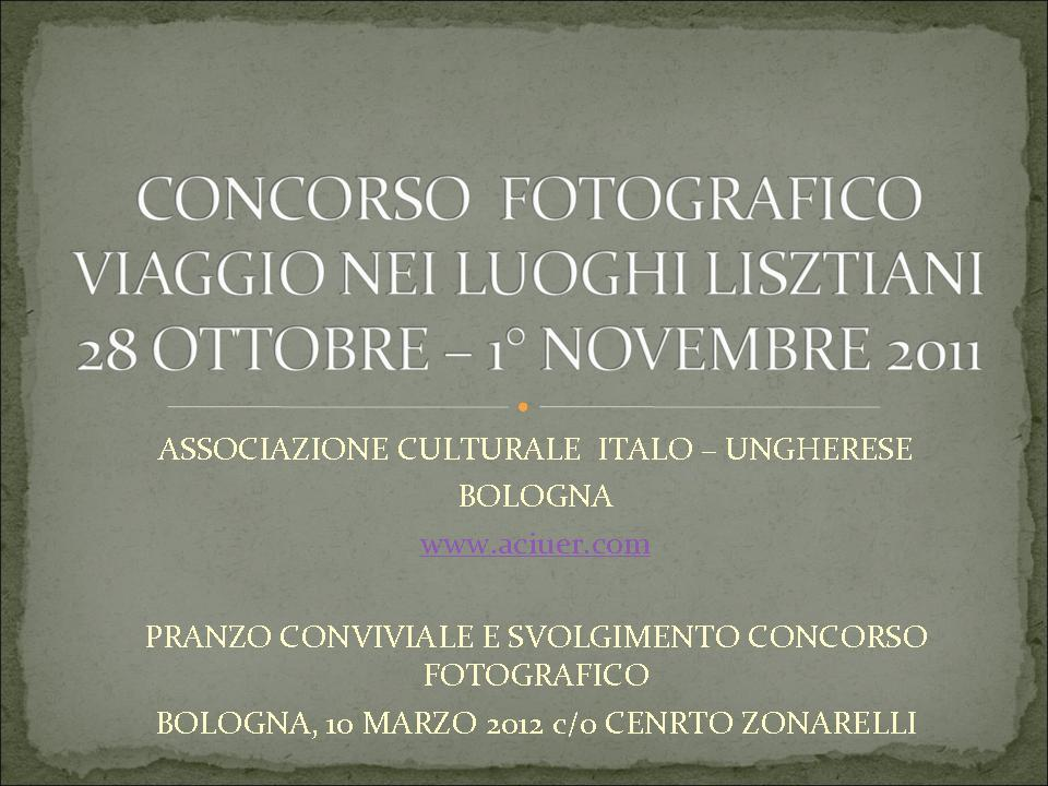 concorso fotografico 2012 classifica premi