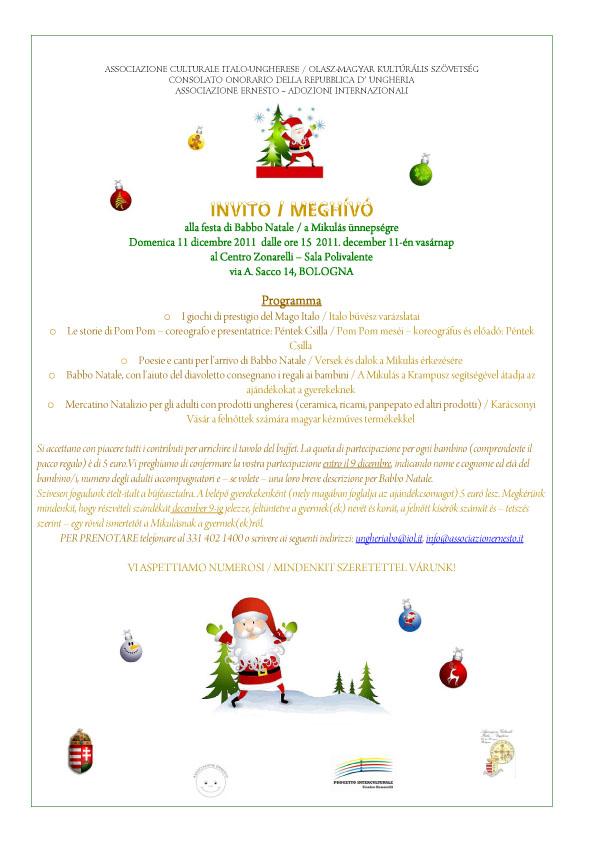 Invito Festa di Babbo Natale