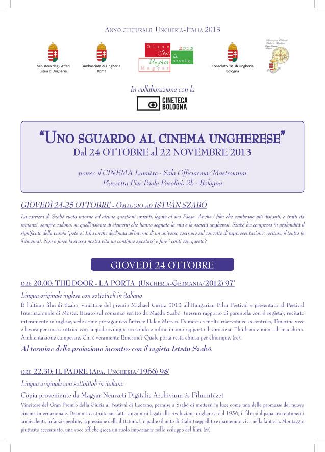 RASSEGNA CINEMA UNGHERESE 24 ottobre 22 novembre 2013