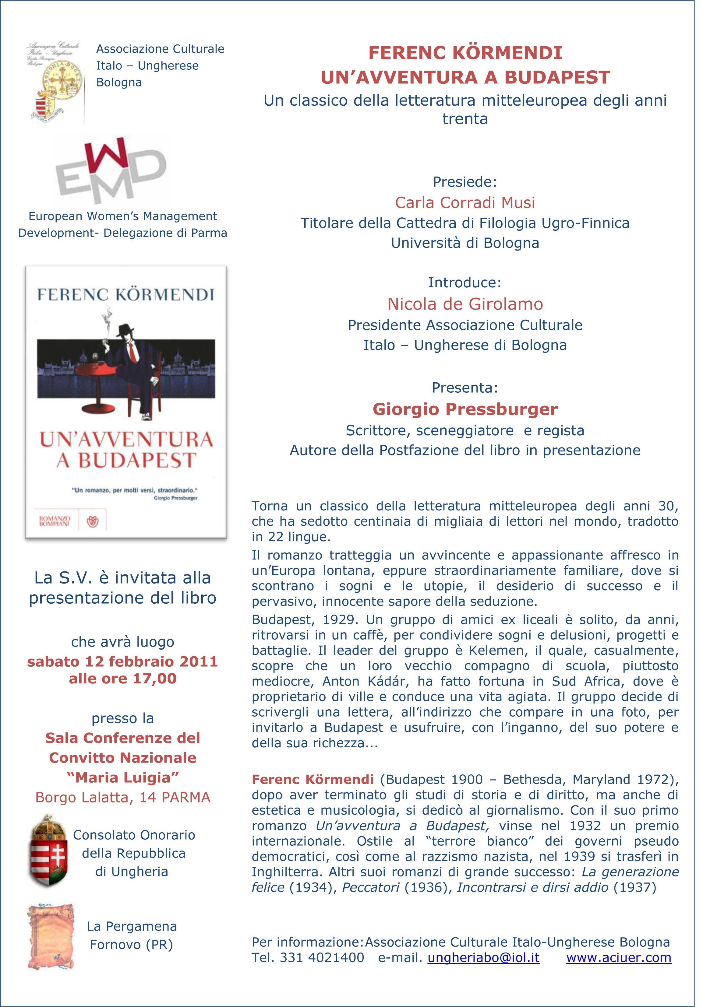 Invito presentazione Kormendi PARMA