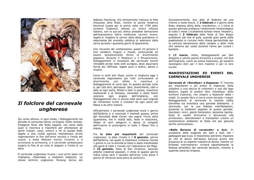 il carnevale ungherese