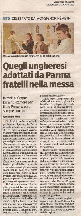 Messa ungherese a Parma su Gazzetta