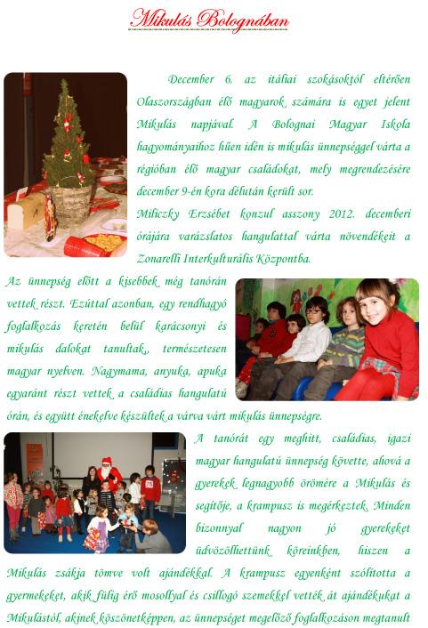 Mikulas (Babbo Natale) a Bologna