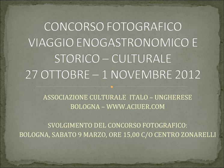 CONCORSO FOTOGRAFICO 2012 - CLASSIFICA
