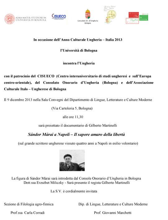 Sándor Márai a Napoli – Il sapore amaro della libertà
