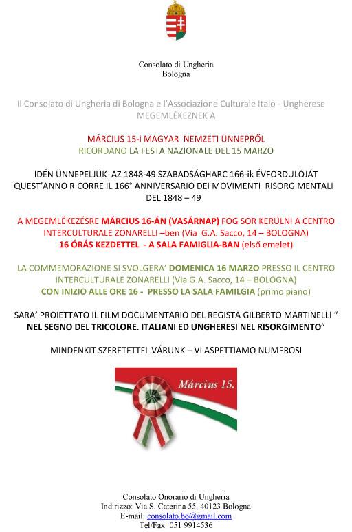 Festa Nazionale del 15 marzo