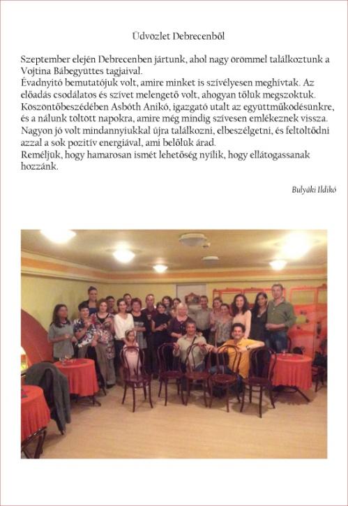 Üdvözlet Debrecenből 2014 - Vojtina
