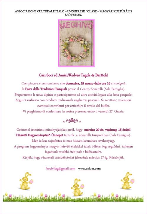 Invito per Festa Pasquale tradizionale